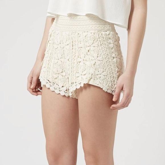 ultimo sconto sito web professionale Prezzo del 50% Topshop Shorts | Beautiful High Waisted Lace Cream | Poshmark